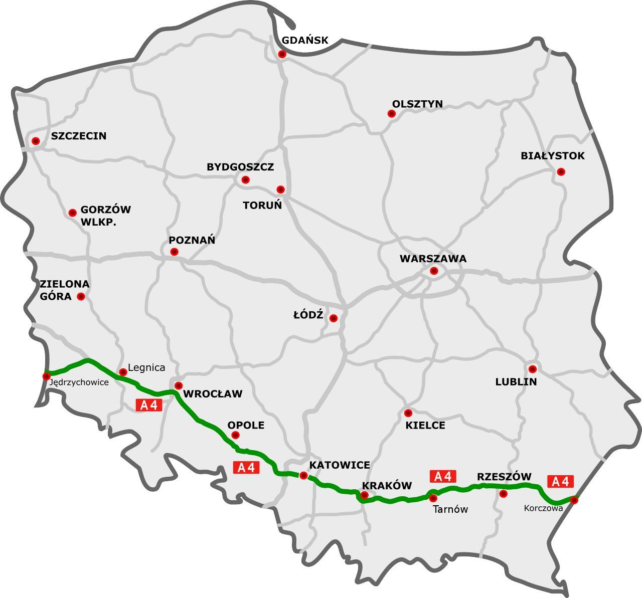 Autostrada A4, Polonia | Trasposervizi